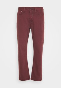 CROP - Relaxed fit -farkut - rosewood