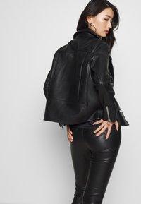 Samsøe Samsøe - WELTER JACKET  - Leather jacket - black - 4