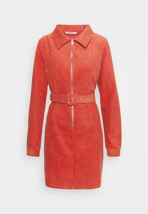 Robe d'été - burnt orange corduroy