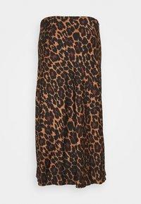 J.CREW - MARCO SKIRT LEOPARD - Áčková sukně - brown black - 1