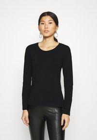 Anna Field - 3 PACK - Long sleeved top - black/white/mottled light grey - 3