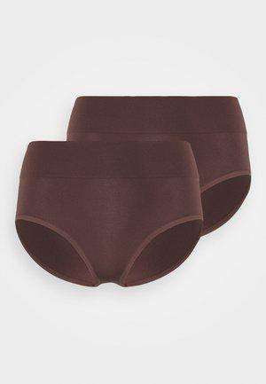 HIGH WAIST BRIEF 2 PACK - Alushousut - brown