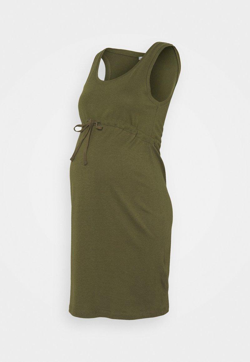 Anna Field MAMA - Žerzejové šaty - olive