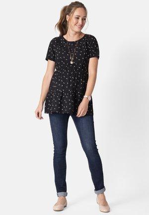 WOVEN BLACK MATERNITY & NURSING - Print T-shirt - blackdot