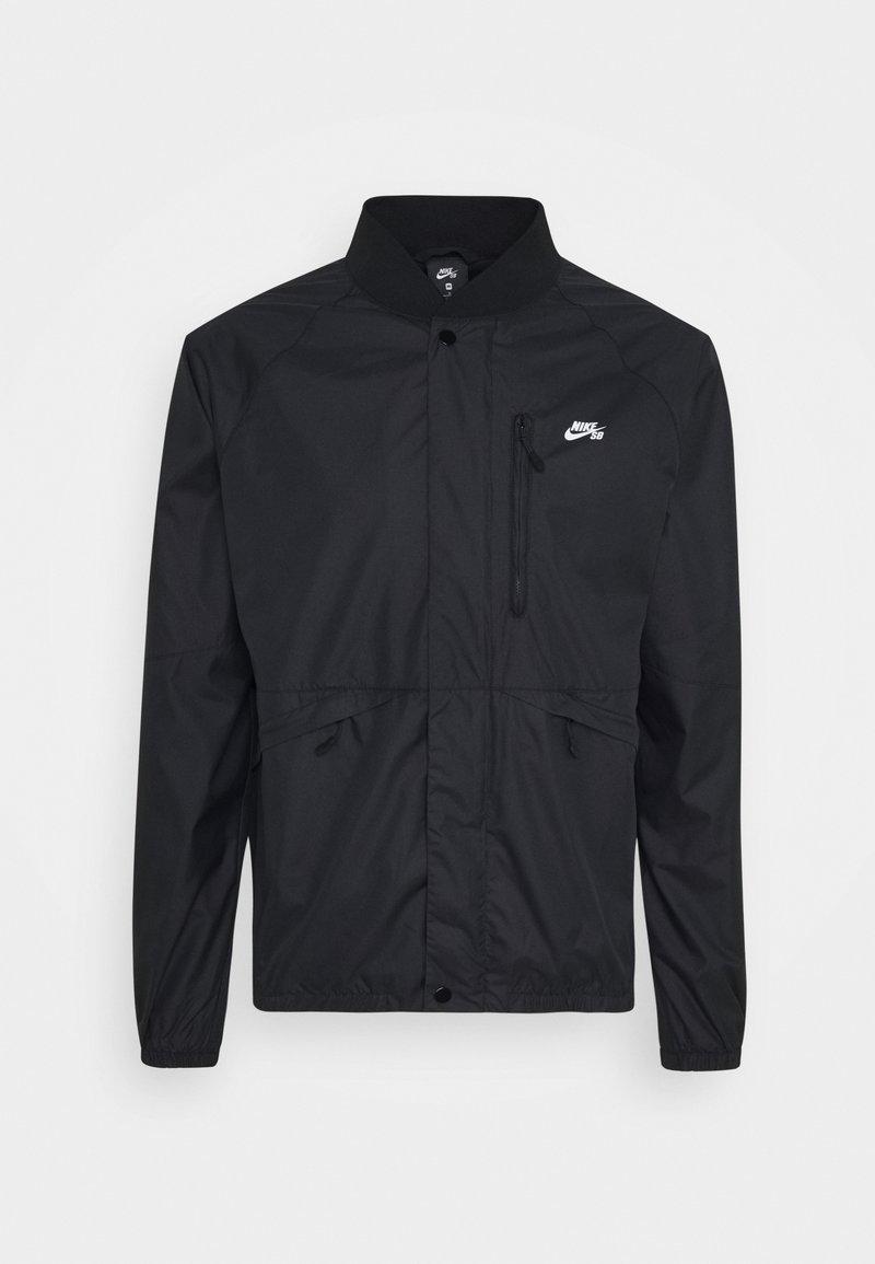 Nike SB - SEASONAL JACKET UNISEX - Summer jacket - black/white