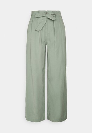 ONLAMINTA ARIS LIFE WIDE PANT - Trousers - chinois green