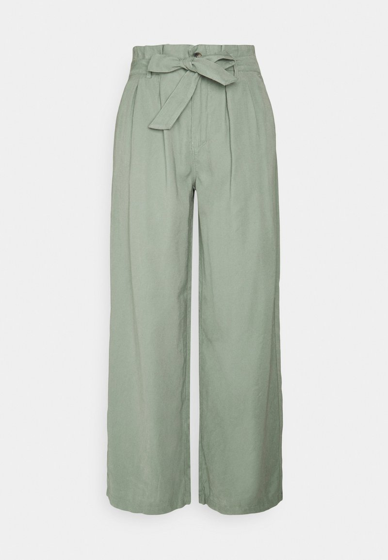 ONLY - ONLAMINTA ARIS LIFE WIDE PANT - Bukse - chinois green