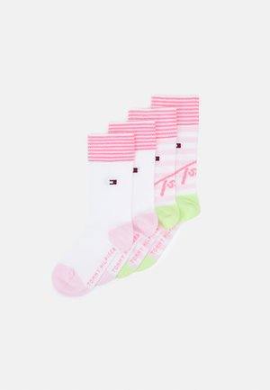 KIDS SOCK STRIPE 4 PACK UNISEX - Socks - pink