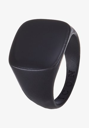 SQUARED SIGNET - Ringar - black