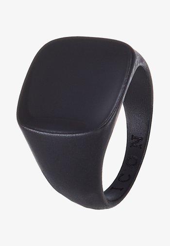 SQUARED SIGNET - Ring - black