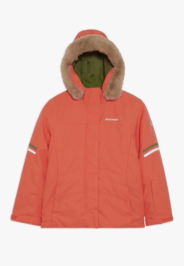 ATHILDA JUNIOR - Ski jacket - coral