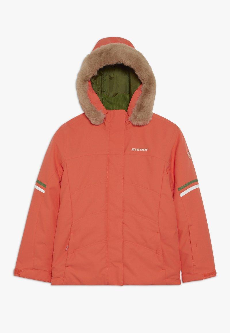 Ziener - ATHILDA JUNIOR - Ski jacket - coral