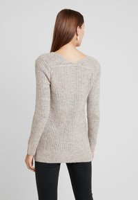 Abercrombie & Fitch - LONG FUZZY - Svetr - pink/grey - 2