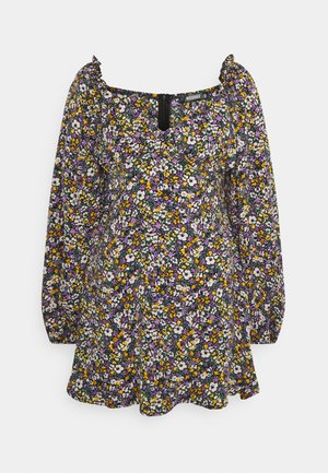 MILKMAID SKATER DRESS FLORAL - Robe d'été - purple