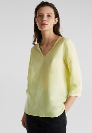 MIT 3/4-ÄRMELN - Blouse - lime yellow