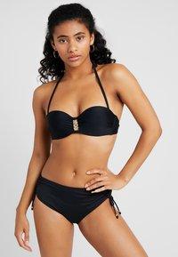 LASCANA - GLORIA WIRE BANDEAU - Bikini top - black - 1