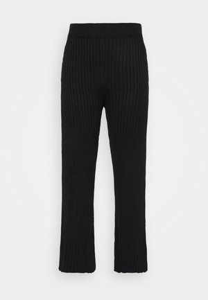 WIDE LEG TROUSER - Broek - black