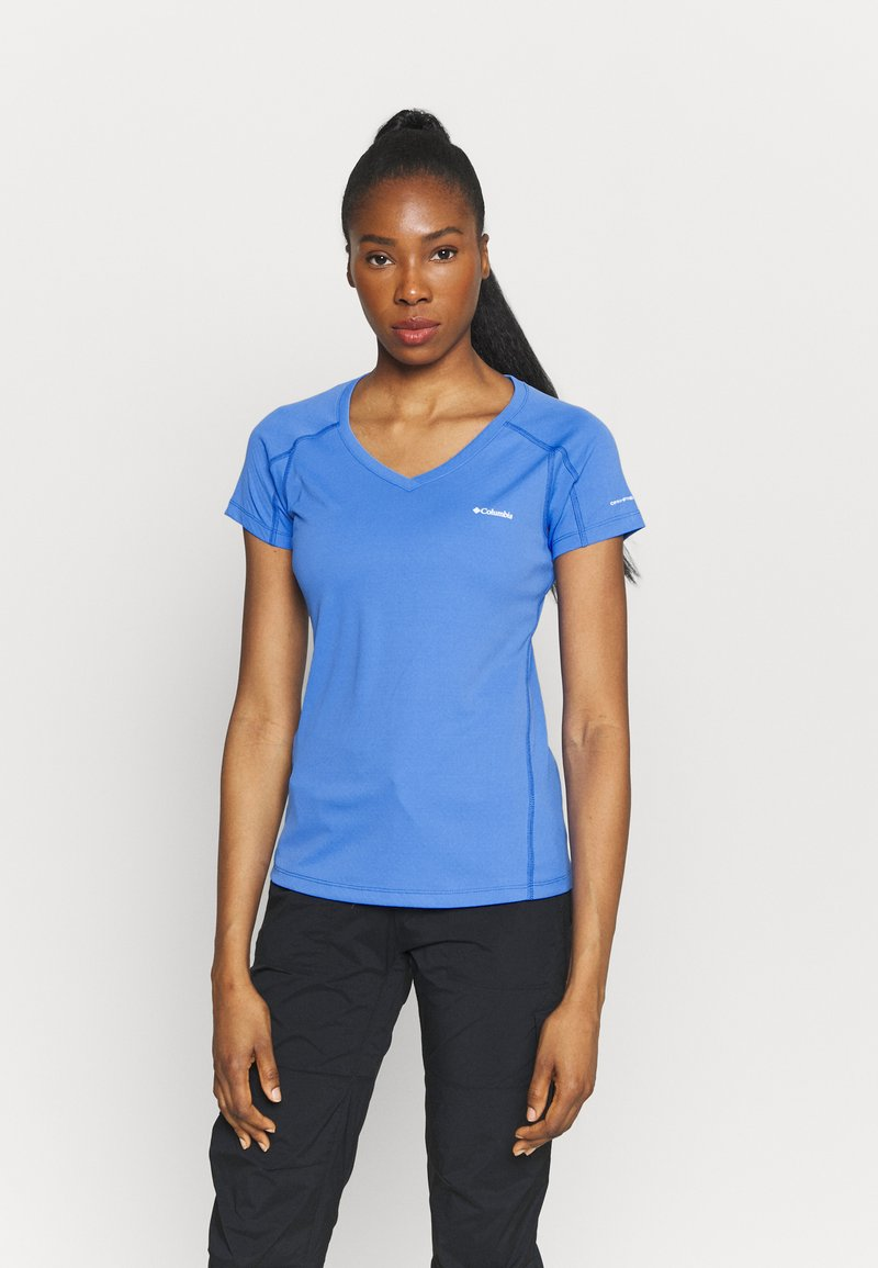 Columbia - RULES SHORT SLEEVE - T-shirt basic - harbor blue