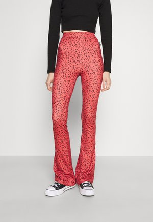 DITZY FLORAL PEACHED PANTS - Tygbyxor - rust orange