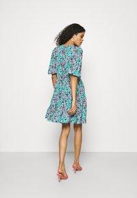 Closet - GATHERED TIERED DRESS - Day dress - turquoise - 2