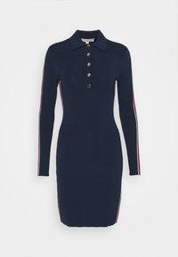 MICHAEL Michael Kors - LOGO TAPE SPLIT HEM DRESS - Shift dress - midnightblue - 5