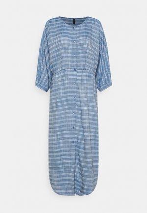 YASELMA LONG SHIRT DRESS - Day dress - cashmere blue/white