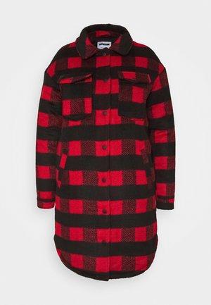 NMMALI LONG JACKET  - Krátký kabát - black/red