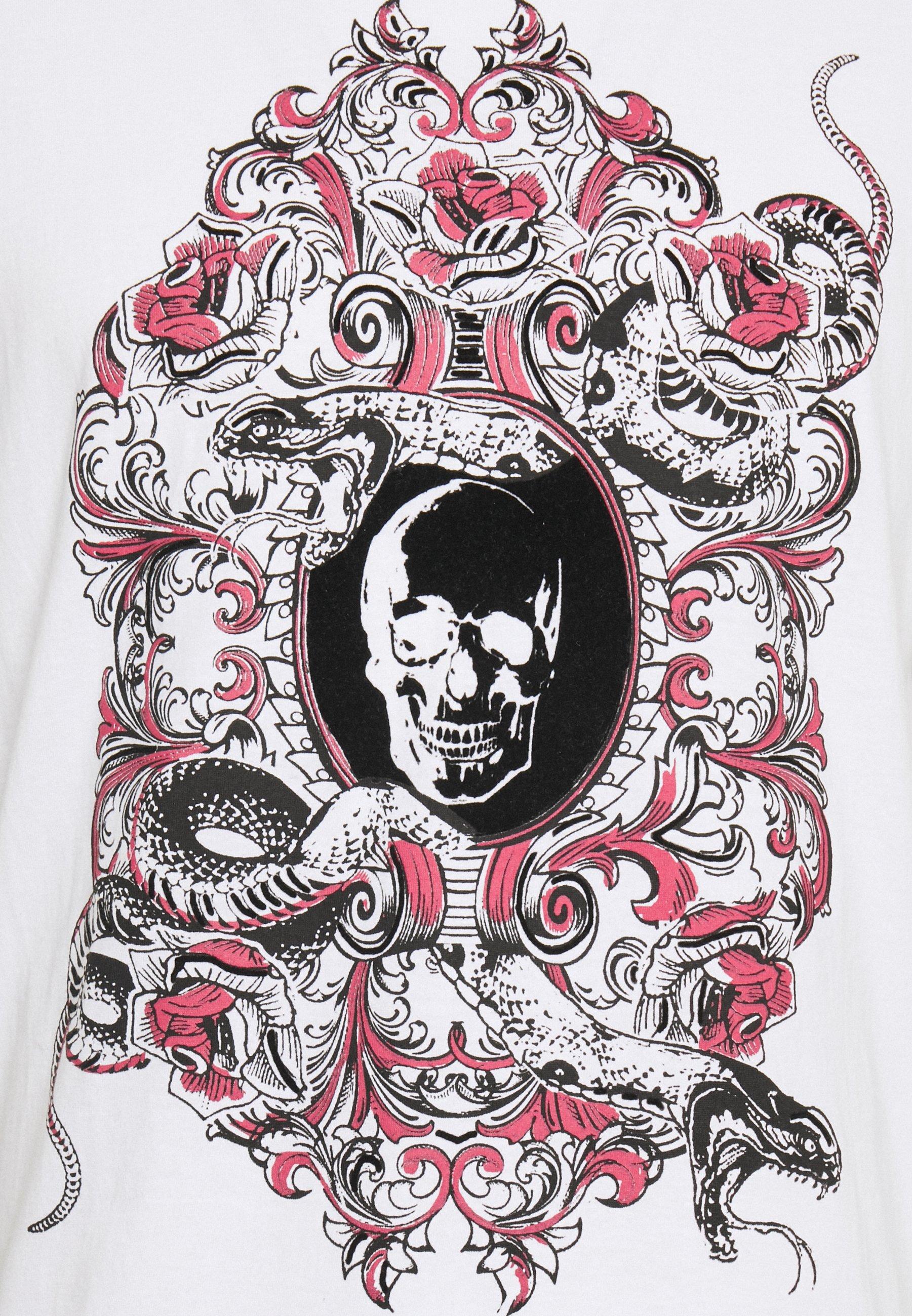 Brave Soul BOOLE - Print T-shirt - optic white fEDxm