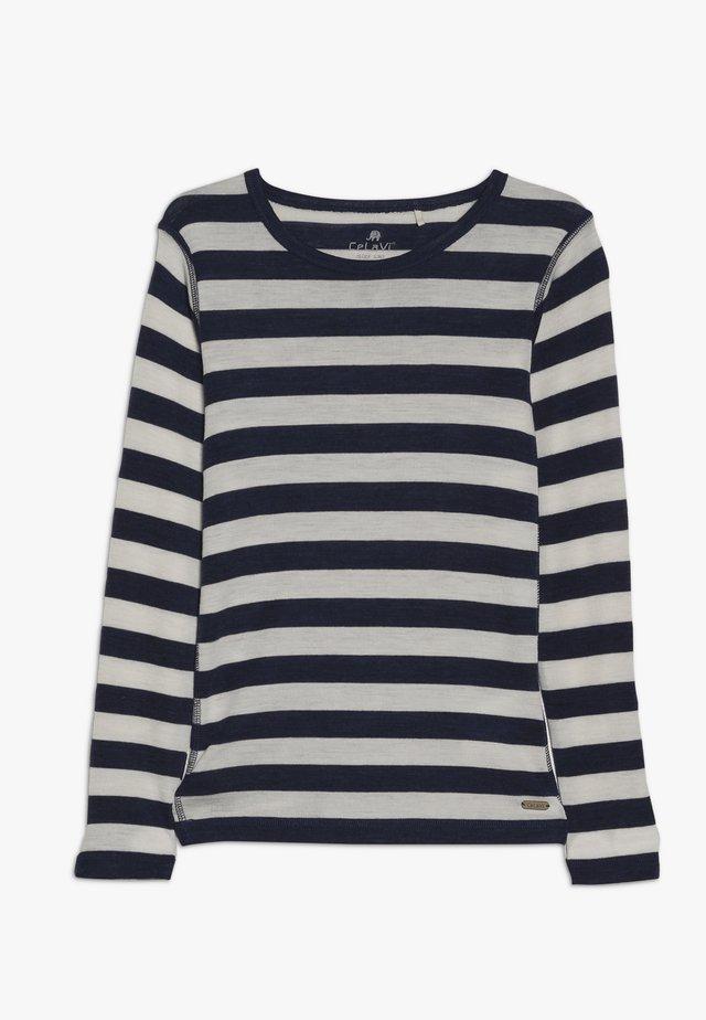 STRIPE - Camiseta de manga larga - navy