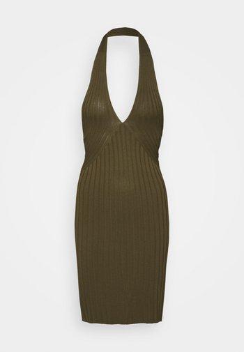 ADDY CROSSED DRESS - Shift dress - travertin