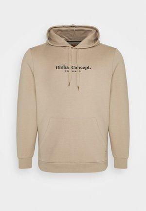 GLOBAL CONCEPT HOODIE - Sweatshirt - sand