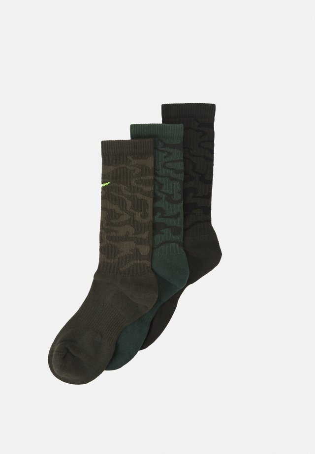 EVERYDAY PLUS CUSH CREW CAMO 3 PACK UNISEX - Calcetines de deporte - galactic jade/sequoia/cargo khaki
