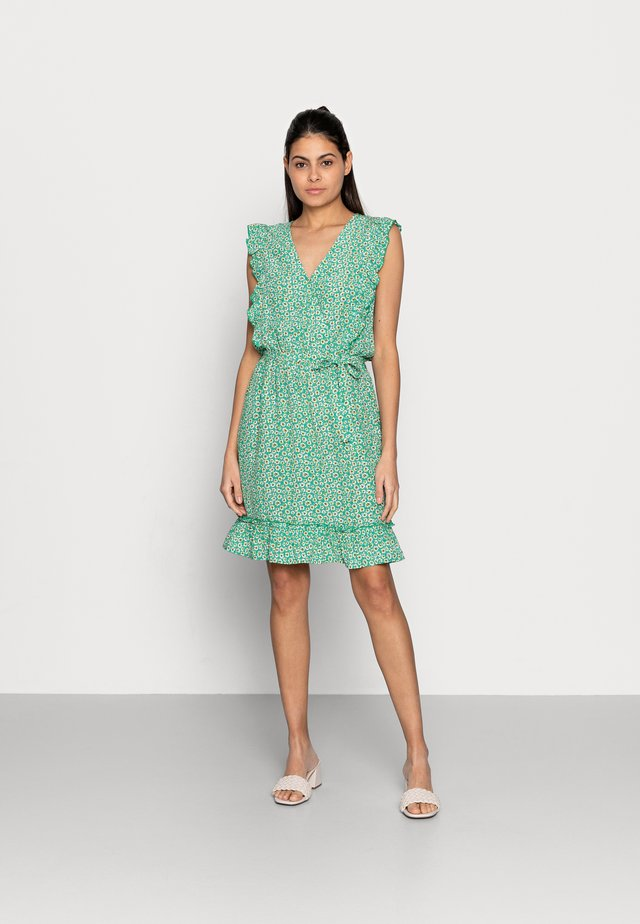 DRESS RUFFLES FIELD FLOWER - Day dress - green
