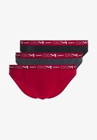 STRETCH BRIEF 3 PACK - Briefs - gris plomb/rouge chili/noir