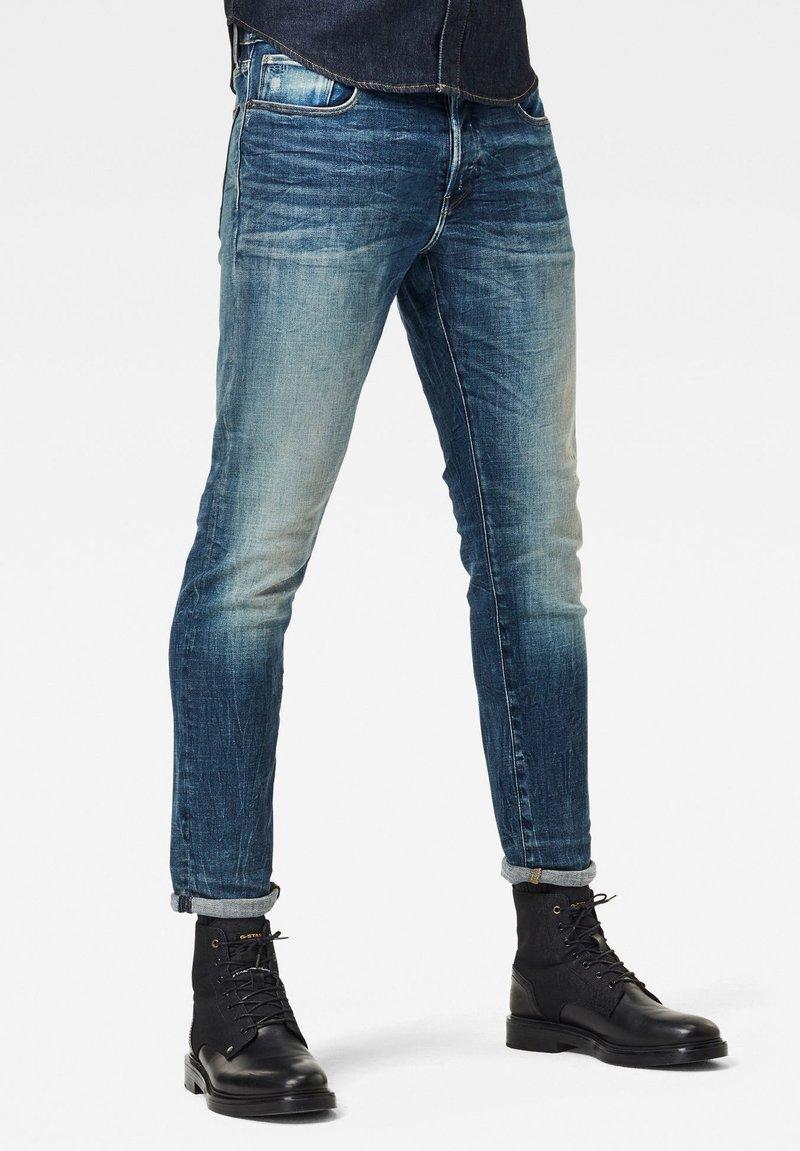 G-Star - 3301 SLIM - Slim fit jeans - antic faded baum blue