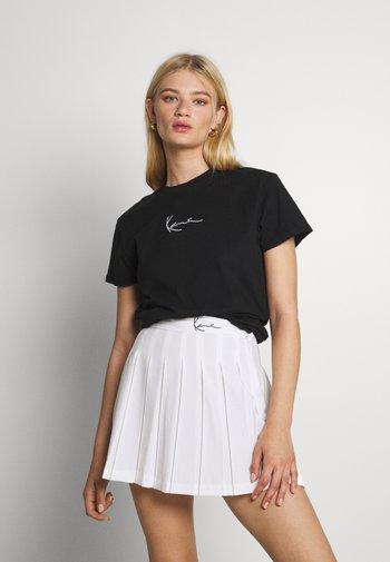 SMALL SIGNATURE TEE - T-shirt basic - black