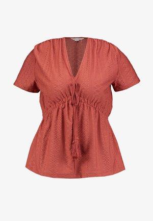 BORLA TEJA - Camiseta estampada - browns