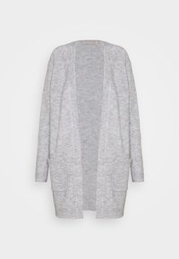 PCPERLA LONG CARDIGAN - Cardigan - light grey melange