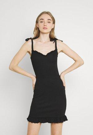 STRUCTURE CUTE DRESS - Cocktailkleid/festliches Kleid - black