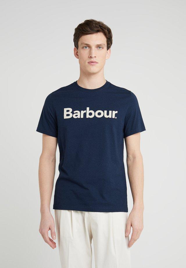 LOGO TEE - Print T-shirt - new navy