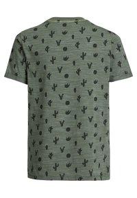 WE Fashion - Print T-shirt - dark green - 4