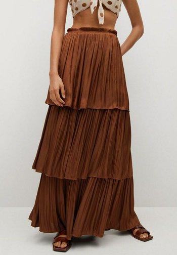 ROCIO - Pleated skirt - bräunliches orange