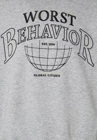WRSTBHVR - SWEATER CITIZEN UNISEX - Sweatshirt - grey melange - 5