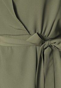 Dorothy Perkins - SHIRRED CUFF WRAP - Blouse - khaki - 5
