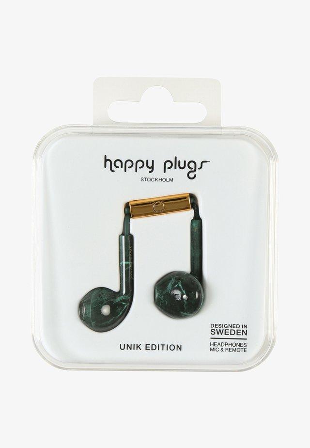 UNIK EARBUD PLUS - Koptelefoon - green marble