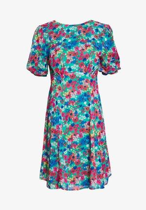TIE BACK FLORAL PRINT MIDI DRESS - Vestido informal - multi coloured