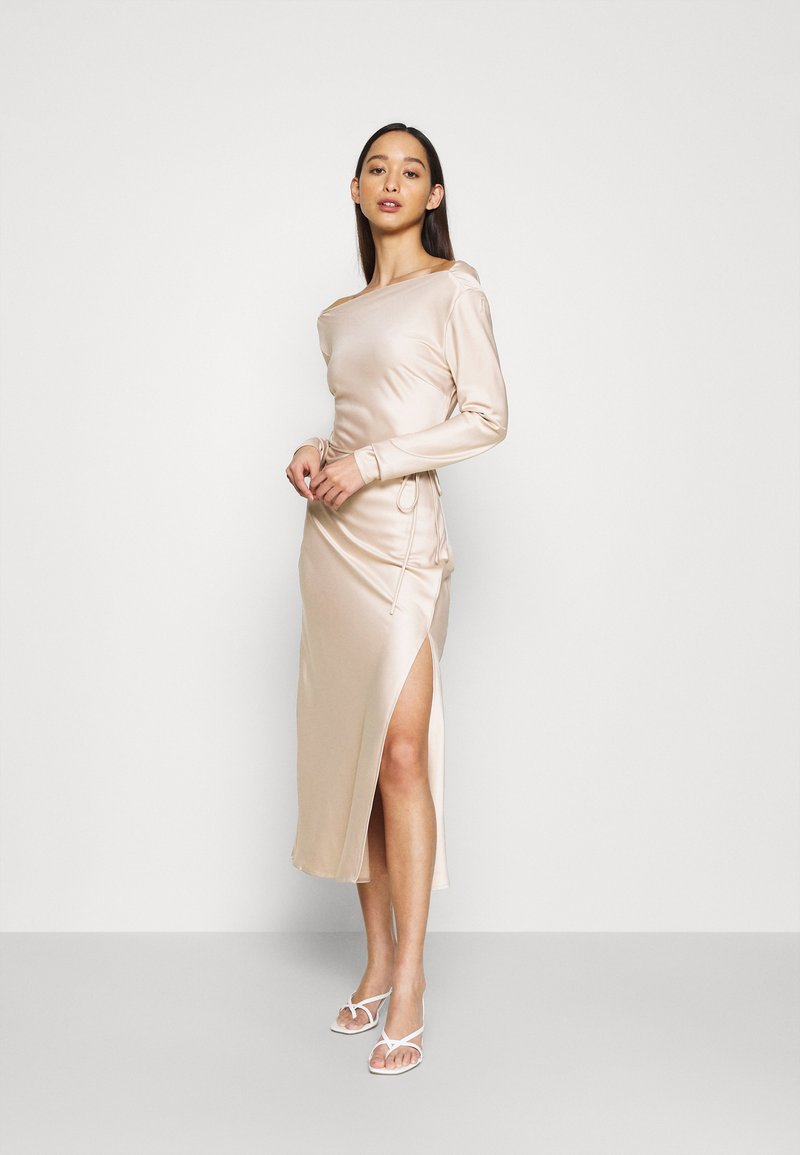 Glamorous - STUDIO COWL MIDAXI DRESS - Cocktailkjole - champagne