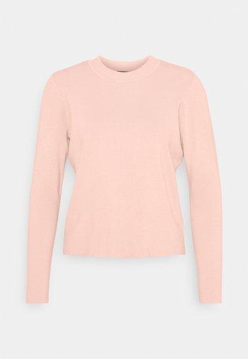 PCGUNI O NECK - Stickad tröja - rose cloud