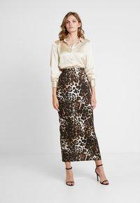 Dorothy Perkins - ANIMAL PRINT SKIRT - Maxi skirt - brown - 1