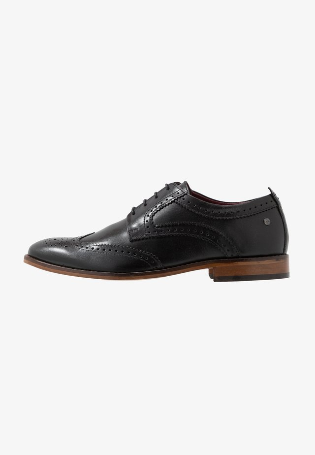MOTIF - Smart lace-ups - waxy black